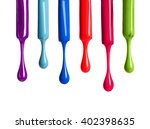 nail polish drop isolated on... | Shutterstock . vector #402398635