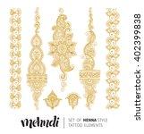 vector illustration of golden... | Shutterstock .eps vector #402399838