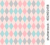 Rhombus Seamless Pattern. Retr...