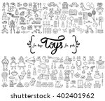 vector set with hand drawn... | Shutterstock .eps vector #402401962