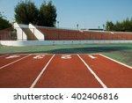 running track in stadium.... | Shutterstock . vector #402406816