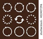 rotation direction vector icon... | Shutterstock .eps vector #402407296