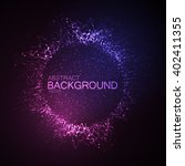 3d illuminated neon wreath or...   Shutterstock .eps vector #402411355