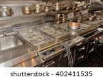 typical kitchen of a restaurant ... | Shutterstock . vector #402411535