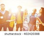 friendship friends relaxation... | Shutterstock . vector #402420388