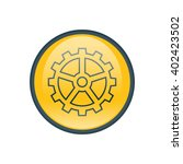 vector illustration of gear icon   Shutterstock .eps vector #402423502