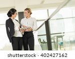 two business colleagues...   Shutterstock . vector #402427162