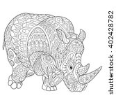 zentangle stylized cartoon... | Shutterstock .eps vector #402428782