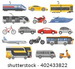 transport decorative flat icons ... | Shutterstock .eps vector #402433822