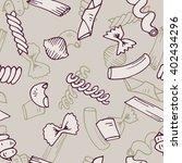 italian pasta seamless pattern... | Shutterstock .eps vector #402434296