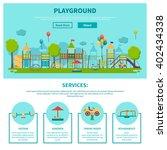 color illustration web site... | Shutterstock .eps vector #402434338