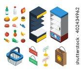 supermarket isometric icon set... | Shutterstock .eps vector #402434962