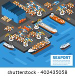 aerial view of harbor... | Shutterstock .eps vector #402435058