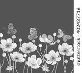 seamless monochrome border with ...
