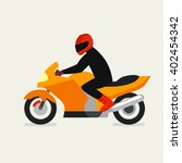 motorcyclist on a motorcycle... | Shutterstock .eps vector #402454342
