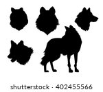 vector illustration animal wolf ...