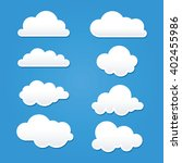 collection of clouds in...   Shutterstock .eps vector #402455986
