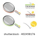 tennis vector  tennis logos ... | Shutterstock .eps vector #402458176