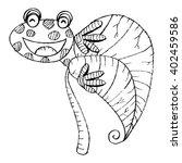 frog sketch.  | Shutterstock .eps vector #402459586