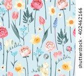 seamless vintage flowers | Shutterstock .eps vector #402462166