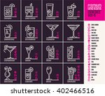 cocktail icons  top cocktails... | Shutterstock .eps vector #402466516