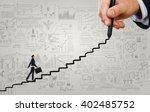 climbing up the career ladder | Shutterstock . vector #402485752