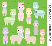 vector illustration of cute... | Shutterstock .eps vector #402492508