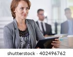 team of successful business... | Shutterstock . vector #402496762