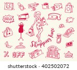 shopping time doodle icon | Shutterstock .eps vector #402502072