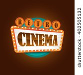 retro theater cinema sign banner | Shutterstock .eps vector #402505132