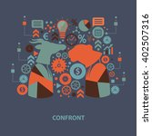 confront concept design on... | Shutterstock .eps vector #402507316