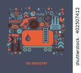 oil industry concept design on... | Shutterstock .eps vector #402507412