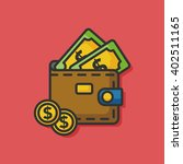 money wallet purse vector  icon | Shutterstock .eps vector #402511165