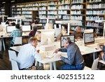 library academic computer... | Shutterstock . vector #402515122