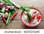 thai style coconut milk soup... | Shutterstock . vector #402524185