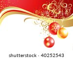 christmas background with balls | Shutterstock .eps vector #40252543