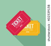 tickets icon. flat design.... | Shutterstock .eps vector #402539158