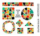 Bright Mosaic Texture. Vector...