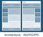 website layout for business or... | Shutterstock .eps vector #402552595