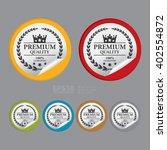 vector   circle premium quality ... | Shutterstock .eps vector #402554872