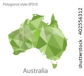 australia map in geometric... | Shutterstock .eps vector #402556312