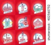 vector line city badge set... | Shutterstock .eps vector #402560752