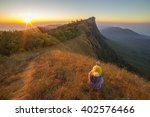 morning in green fields and... | Shutterstock . vector #402576466