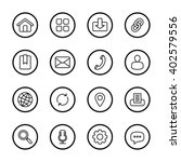 black line web icon set with...