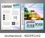 modern brochure magazine flyers ... | Shutterstock .eps vector #402591142