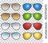 set   brown  blue  green ... | Shutterstock .eps vector #402593692