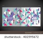 square cover design template ... | Shutterstock .eps vector #402595672