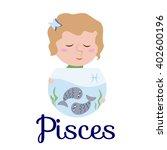 pisces cartoon character. sign... | Shutterstock .eps vector #402600196