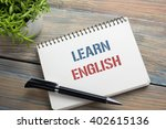 learn english text written on... | Shutterstock . vector #402615136