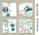 cute collection of templates... | Shutterstock .eps vector #402617398